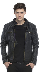 Emblazon Men's Black Casual Jacket