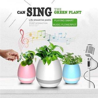 G-Mtin Smart Touch Music Colorful Night Light Flower Pot with inbuilt Bluetooth Speaker