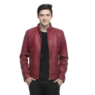Emblazon Men's Maroon Casual Jacket