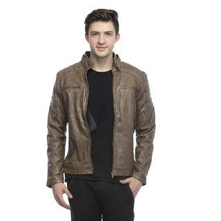 Emblazon Men's Brown Casual Jacket