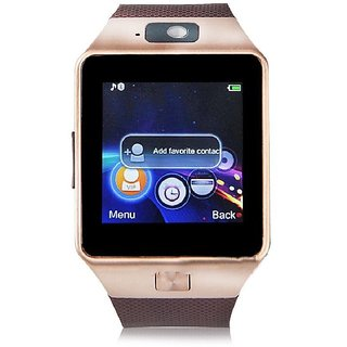 DZ09 Bluetooth with Built-in Sim card and memory card slot Compatible with All Android Mobiles Smartwatch(Brown)