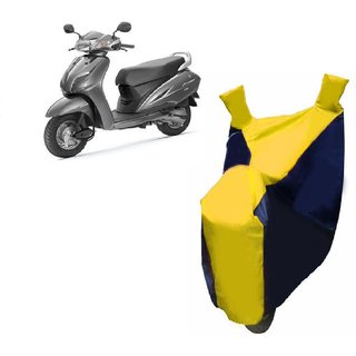 AUTOAGE Premium Yellow with Black Bike Body Cover For Honda Activa 4G