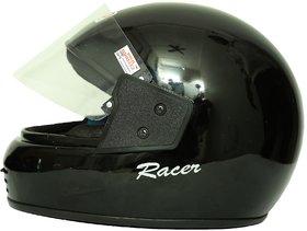 Zokar Racer Full Face Helmet Black With ISI Mark (HQ-14)