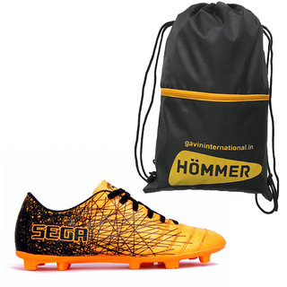 SEGA GALAXY FOOTBALL STUD SHOES WITH SHOES BAG COMBO.