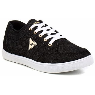 Sparx Men Black & White Sneakers