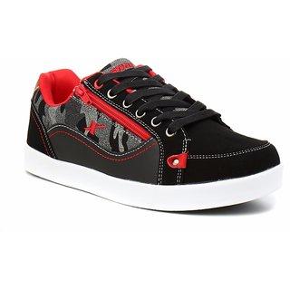 Sparx Men Black & Red Sneakers