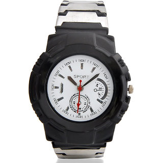 Jack Klein Elegant Stylish Round White Dial Strap Analogue Wrist Watch