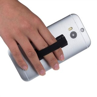 KSJ Secure Finger Grip Universal Anti-Slip Handheld Finger Strap Holder, for SmartPhone Small Tablet  All iPhone (Assorted Colors)