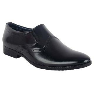 ShoeAdda Classy Black Slip On Formal Shoe