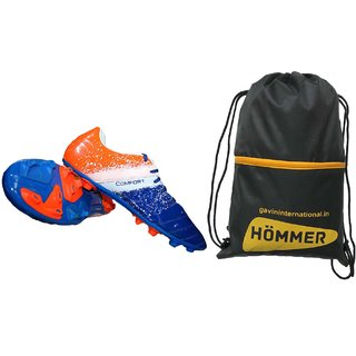 SEGA COMFORT MULTICOLOUR FOOTBALL STUD SHOES WITH SHOES BAG.