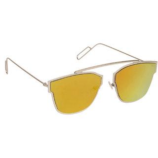 Arzonai Dempsey Silver MA-028-S6 Unisex Square Sunglasses