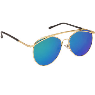 17d19743fb9 Buy Arzonai Anders Mirror Golden MA-048-S5 Women Aviator Sunglasses ...