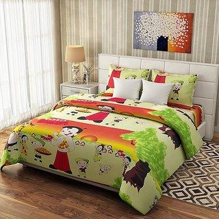 Choco Creation Printied Bedsheet