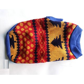 Dog woollen Sweater No. 12 for small pups 12 inch in length Export Quality