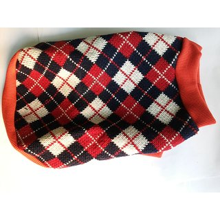Dog Woolen Sweater No18 Good for Adults GSD Dalmation, Lab Pug, Pom - size 18 inch in length Export Quality