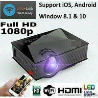 WIFI 1080p HD Video Projector With HDMI/VGA/USB/SD/AV/D