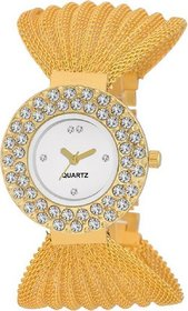 KDS ROUND Golden Glory Analog Watch For Women