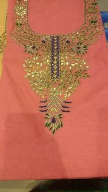 Ethnic Pulse Women's Ethnic wear georgette Unstitched party/festival wear Kurti Dress Material