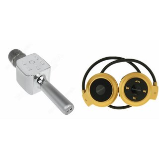 Clairbell Q7 Microphone and Mini 503 Bluetooth Headset  for VIVO y51l(Q7 Mic and Karoke with bluetooth speaker | Mini 503 Bluetooth Headset With Mic)