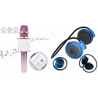 Clairbell Q7 Microphone and Mini 503 Bluetooth Headset  for LENOVO a6000(Q7 Mic and Karoke with bluetooth speaker | Mini 503 Bluetooth Headset With Mic)
