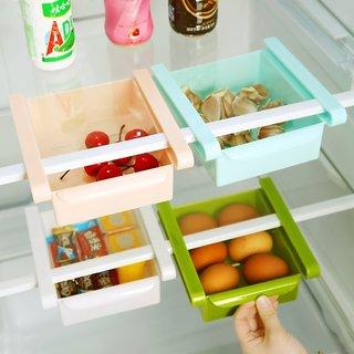 Multi Purpose Storage Fridge Rack - Space Saver Organizer for Refrigerators (Color may Vary-1 Piece)