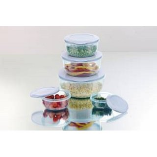 MasterCook   290 ml, 580 ml, 1000 ml, 1700 ml, 2700 ml Plastic Grocery Container  Pack of 5, Blue  Jars   Containers