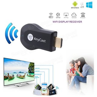 HDMI 1080P Wireless TV Wifi Display Dongle Adapter High Speed And Protable All Share Cast Hub Share Videos Photos Black