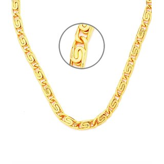 New Fancy Fisher Design HONEY SINGH Gold Plated Chain With 6 Months Re-plating Warranty For Dashing Men's 22Inches, 14gm