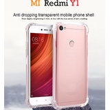Redmi Y1     Anti-Knock Design Shock Absorbent Bumper Soft Silicone Transparent Back Cover.