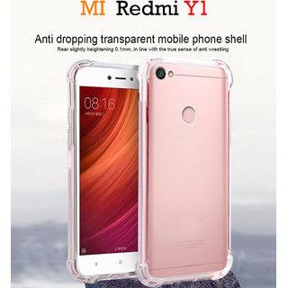 Redmi Y1     Anti-Knock Design Shock Absorbent Bumper Soft Silicone Transparent Back Cover.