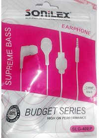 Sonilex Gold Universal Earphone with Mic - Supports All Phones with 3.5 mm Jack