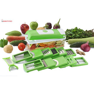 DarkPyro's 12 in 1 Fruit  Vegetable Graters Slicer Chipser Dicer Cutter Chopper Upgraded Deluxe Model