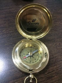 Antique Nautical Brass Pocket Compass