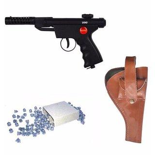 Prijam Air Gun Btm-007 Model With Metal Body For Target Practice Combo Offer 300 Pellets With Cover  Air Gun