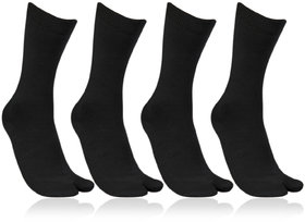 Women's Fine Woolen Black 4 Pair Thumb Socks