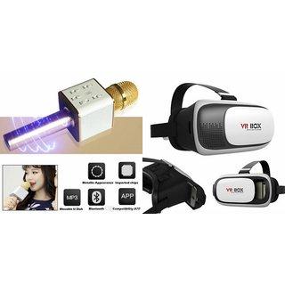 Zemini Q7 Microphone and VR Box for SONY xperia z5 comapct(Q7 Mic and Karoke with bluetooth speaker | VR Box, Virtual Reality Box )