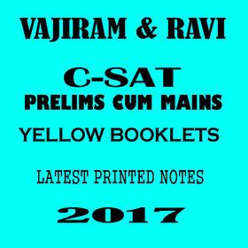 Vajiram and ravi CSAT printed notes 2017 (LATEST ONE) Paperback  2017