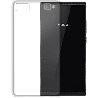 Deltakart Back Cover for Xolo Black 1 X (Transparent, Grip Case)