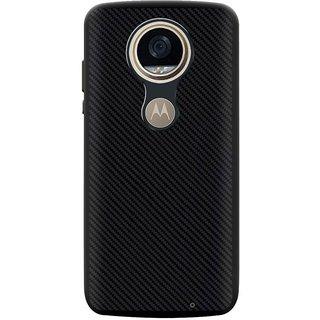 Deltakart Carbon Fiber Back Cover For Motorola Moto Z2 Play Black (Soft)