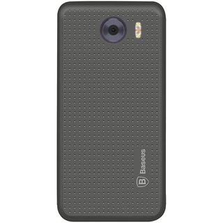 Deltakart Grey Dotted Back Cover for Panasonic P88 - Soft Silicon