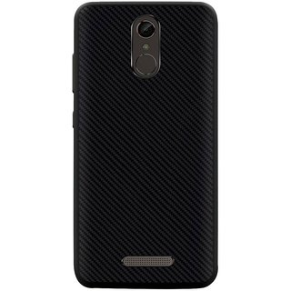Deltakart Carbon Fiber Back Cover For Gionee S6s Black (Soft)
