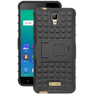 Deltakart Hybrid Back Cover for Gionee P7 Black