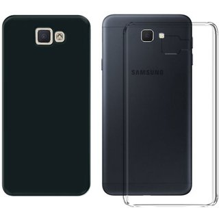 best service e11a0 e30d6 Deltakart Black Matty Back Cover For Samsung Galaxy J5 Prime With  Transparent Back Cover