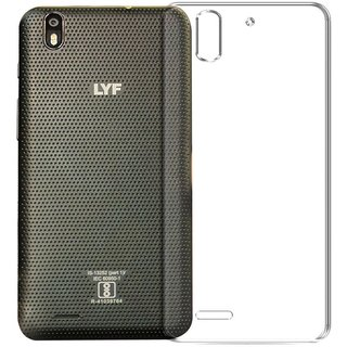 Deltakart Back Cover for LYF Water F1 (Transparent, Grip Case)