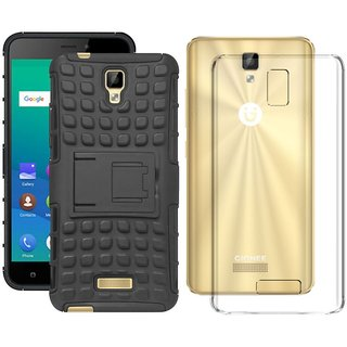 Mobik Hybrid Back Cover for Gionee P7 With Transparent Back Cover