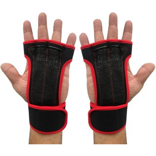 Kobo Red Professional Best Gymnastic Hand Grips / Cross Fitness Gloves for Pull Ups / Gym Gloves For Fitness / Functional Training Hand Protector (Size : Large)
