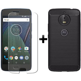 Mobik Tempered Glass for  Motorola Moto G5 Plus With Armor Back Cover