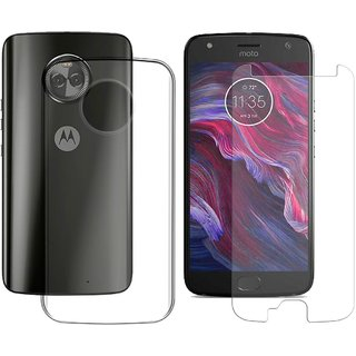 promo code ac96c 3ab82 Mobik Tempered Glass for Motorola Moto X4 With Transparent Back Cover