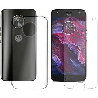 promo code 42a10 e4f86 Mobik Tempered Glass for Motorola Moto X4 With Transparent Back Cover