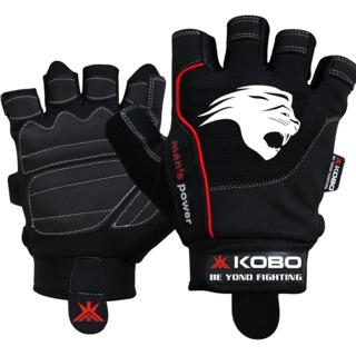 Kobo Gym Gloves Black/White (Small)